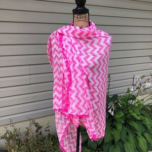Lilly Pulitzer for Target pineapple Pom Pom scarf